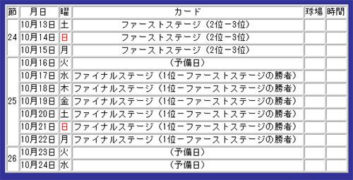 プロ野球 日本シリーズ&クライマックスシリーズ 日程・テレビ ...
